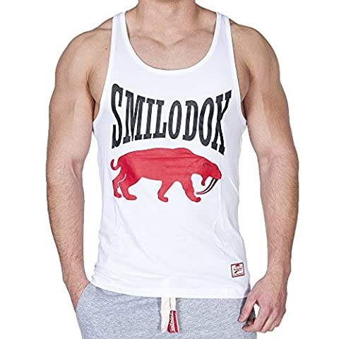 Smilodox Herren Stringer Classic , Größe:S;Farbe:Weiß