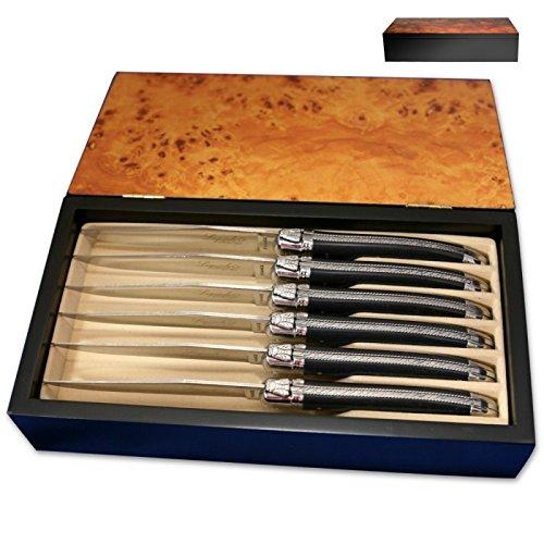 Laguiole Actiforge Steakmesser-Set, mit schwarzem Griff, in Frankreich gefertigt - 4