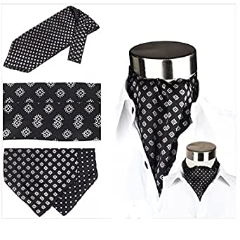 krawattenschal ascot schal zum binden 100 reine seide wechselt das muster bekleidung. Black Bedroom Furniture Sets. Home Design Ideas