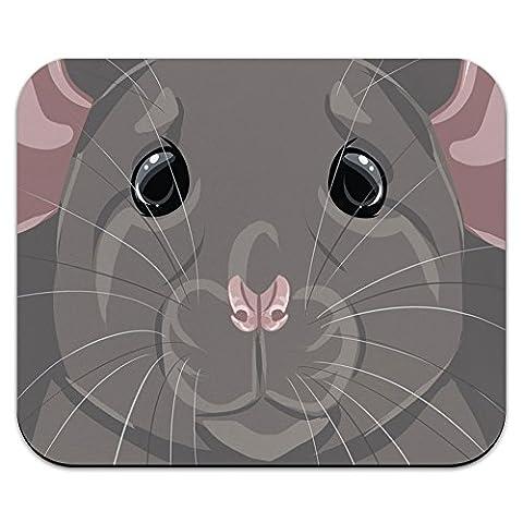 Rat Dumbo Fancy Gris–PET Souris Tapis de Souris Tapis de Souris