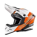 O'Neal 8Series MX Helm Nano Orange Schwarz Weiß Motocross Enduro Offroad Quad Cross, 0614-90, Größe M (57/58 cm)