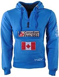 Canadian Peak Herren Anorak Pullover Kapuze Sweat Galapagos Türkis