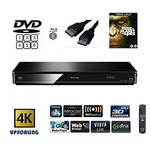 Panasonic dmp-bdt380(Multiregion für DVD) Smart, 4K Upscaling, Blu-ray Player mit integriertem WiFi, Miracast, 3D, DLNA-inkl. HDMI- und EIN Titel (je nach Verfügbarkeit)