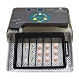 Volwco Vollautomatische Eier Inkubator 9-35 Eier Brutapparat Für Bruteier Mit Automatischem Wender, Temperaturregelung Mit Eingebautem LED Ei Licht Für Huhn, Ente, Gans, Taube, Wachtel