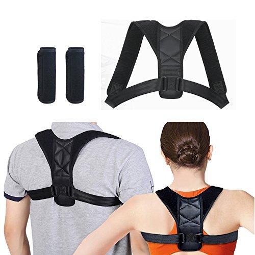 Amaza Corrector de Espalda Ajustables para Corrección de Postura recto Hombro Espalda Postura para Hombres Mujeres Niños y Adolescente (Tamaños de cofre: 73-88cm)