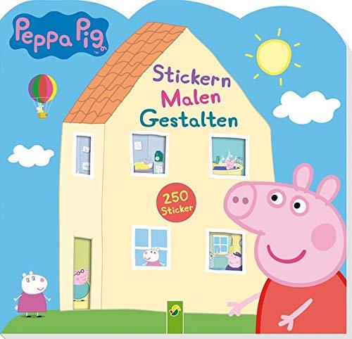 Peppa Pig Stickern Malen Gestalten: Mit 250 tollen Stickern