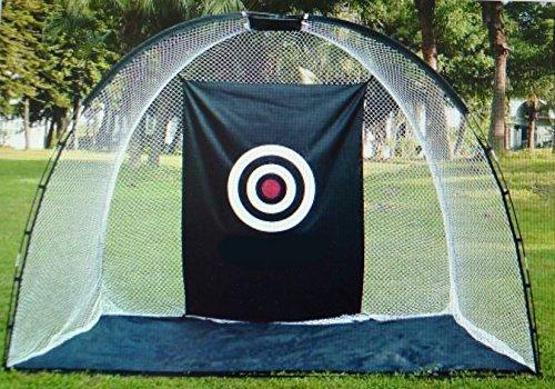 The Monster - riesiges Abschlagnetz 310 x 210 x 150 cm - mit Boden und Ziel - Golfnetz/Rangenetz/Driving Range/Übungsnetz