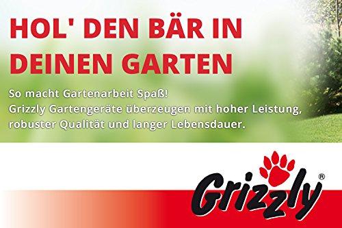 Grizzly Elektro Heckenschere, verstellbarer Drehgriff, robustes Metallgetriebe, mit Schnellstop-Bremsfunktion