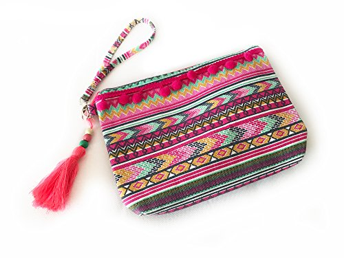 Ibiza Hippie Clutch - Party Lover - Abendtasche - Umhängetasche (Lackleder Versace)