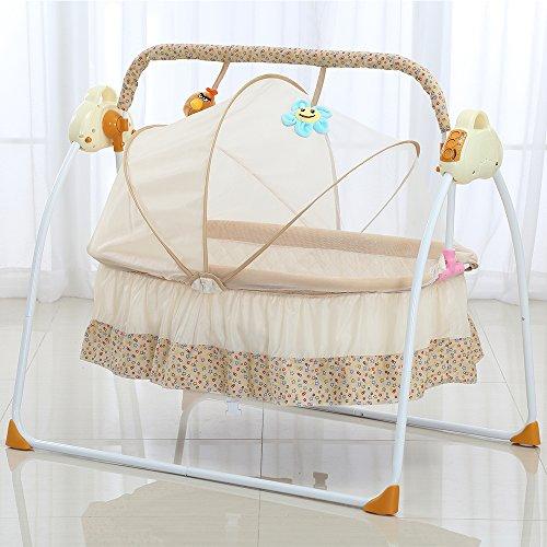 Attraktiv Decdeal Automatische Baby Wiege Elektrische Babyschaukel Babybett  MP3 Player, Moskitonetz, 3 Schaukelgeschwindigkeit,