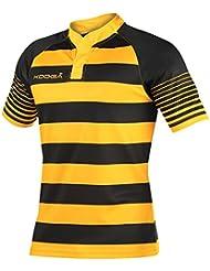 KooGa - Camiseta de manga corta para rugby con diseño de reayas para niños