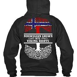 Sudadera con Capucha Teespring para Hombre - XL - Norwegian Grown With Viking Roots