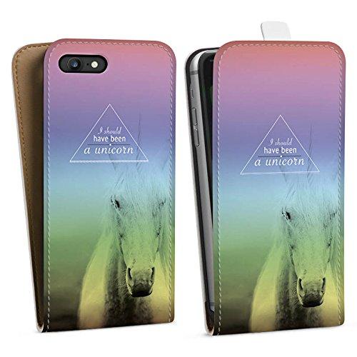 Apple iPhone X Silikon Hülle Case Schutzhülle Einhorn Sprüche Unicorn Downflip Tasche weiß