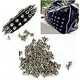 100Clous Piques à cônes de métal pour décoration cuir Artesania dangers de ceintures chaussures Open Buy