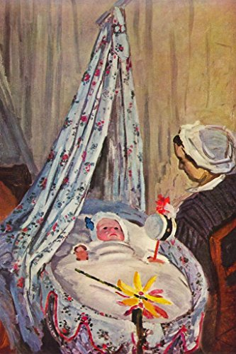 Poster Foundry Claude Monet Jean Monet in His Cradle Französischer Impressionist Art Print 36x54 inches Poster - 54 In Jeans