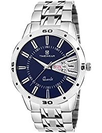 Timewear Analog Blue Dial Day and Date Watch for Men