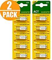 Act Super 23A 12V High Voltage Alkaline Battery (Pack of 10)