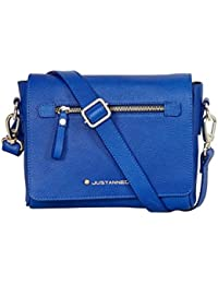 Blue Flap Over Sling Bag