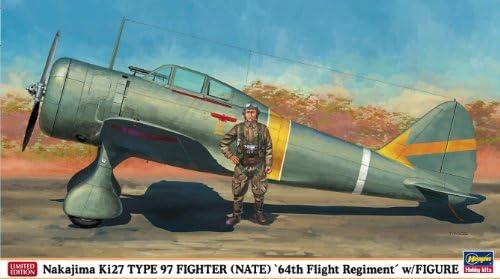 Hasegawa 09918 – Atsushi ki27 type 97 Fighter 64th Flight Fleet, W/Figure | Luxuriant Dans La Conception