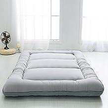 Nclon Multiusos Espesar Keep Warm Colchón,Plegable Colchón Esteras del Tatami-Gris clásico 90x200cm