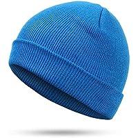 BLACK ELL Sombrero de señora, Sombrero de Hombre, Sombrero de Punto de Invierno, Sombrero de Invierno, Color cott, 3.