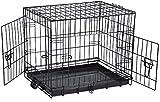 "ViVo© Extra Large 42"" Folding Dog Pet Carrier Crates Cages Puppy Pet Carrier Training Vet Cage Foldable Car Van Metal Playpen"