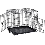 Vivo© Folding Dog Pet Carrier Crates Cages Puppy Small Medium Large Extra Large XX-Large Pet Carrier Training Vet Cage Foldable Car Van Metal Playpen 51u9C1XBenL