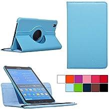 COOVY® SMART FUNDA 360º GRADOS ROTACIÓN PARA SAMSUNG GALAXY TAB PRO 8.4 SM-T320 SM-T321 SM-T325 COVER CASE PROTECTORA SOPORTE color azul claro