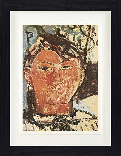 1art1 113645 Amedeo Modigliani - Bildnis Pablo Picasso, 1915, Detail Gerahmtes Poster Für Fans Und Sammler 40 x 30 cm -