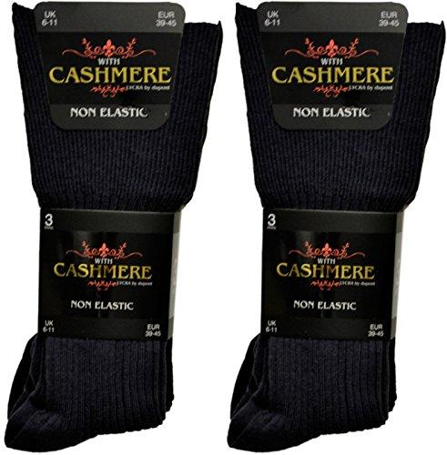 Super Luxus Herren - 12 Paar nicht elastische Socken Cashmere Schurwolle Winter (Herren-socken Luxus Cashmere Blend)