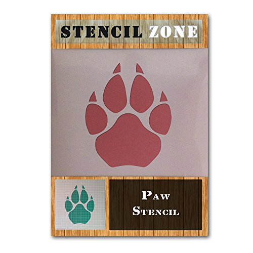 Dog Cat Animal Pet Paw Print Mylar Airbrush Malerei Wand Crafts Schablone One A2 Size Stencil - Large