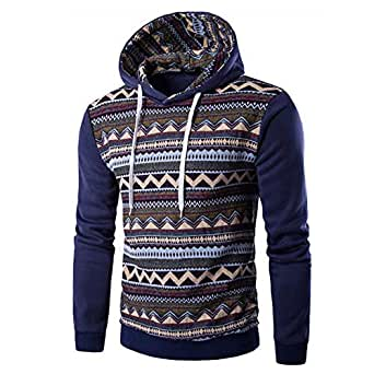db4089bf31483 Kapuzenpullover Herren Herbst Winter Pullover mit Kapuze Outwear Männer  Sweater Hoodies Sweatshirt National Style Langarmshirt Btruely