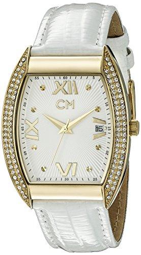 Carlo Monti CM508-286 - Reloj analógico de cuarzo para mujer con correa de piel, color blanco