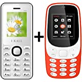 I KALL K3310 (Red) Special Gift Combo With K66 (White) Basic Feature Mobile Phone
