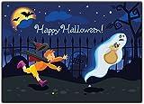 Halloween Kinder Einladungskarten Einladung Erwachsene Kindergeburtstag Halloweenparty (12 Stück) Gespenster Party gruselig
