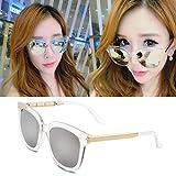 sonnenbrille, meine damen, popstars, brille, neue runde, personalisierte sonnenbrille, frauen - runde gesicht, die koreanischen männer augen,weißen transparenten quecksilber (stoff)