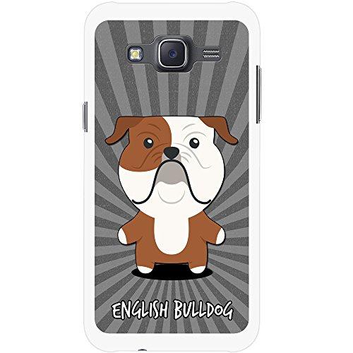 Englische Bulldogge, Britische Bulldogge Hartschalenhülle Telefonhülle zum Aufstecken für Samsung Galaxy J5 (J500FN) 2015 Version (Englische Bulldogge Valentine)