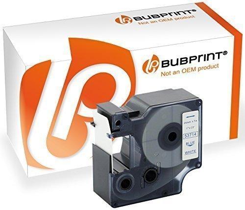 Bubprint Schriftband kompatibel für Dymo 53714 blau auf weiss 24mm x 7m