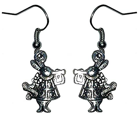 Alice In Costume Wonderland Lapin - Boucles d'oreilles