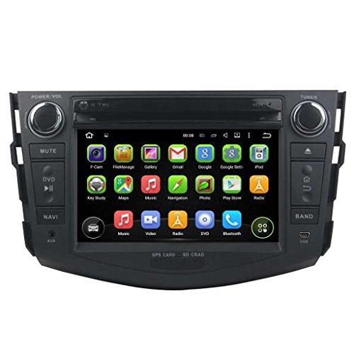 7 pollici Android 5.1.1 Lollipop OS Lettore DVD dell'automobile per Toyota RAV4 2006 2007 2008 2009 2010 2011 2012, DAB+ radio Quad Core 1.6G Cortex A9 CPU 16G Flash 1G RAM DDR3 1024x600 GPS Radio Ingresso Aux OBD2 - Costruito Nel Registratore Cd