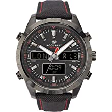 Accurist Mens Analogue-Digital Japanese Quartz Watch with Nylon Strap 7245
