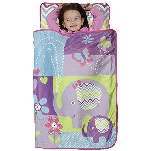 Baby Boom Toddler Nap Mat, Happy Elephant/Purple, Happy Elephant/Purple