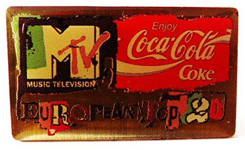 Coca-Cola - M-TV Musiksender - Pin 15 x 15 mm (Cola Kostüme Coca)