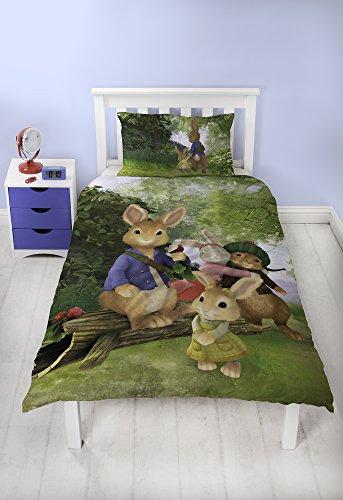 Peter Rabbit Einzelbett-Bettwäsche-Set Beatrix Potter Kids Bettwäsche - Exklusive britische Design-Bettwäsche-Set (Lily-bettwäsche-set)