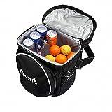 CrazyFire Isolierte Kühltasche Picknicktasche,Tragbare Insulated Tragetasche Kühler Lunch Box Cooler Bag,Wasserdicht 9-can-Picknick Isolierkühlvorrichtung Tote Bag für Picknick Camping Beach BBQ