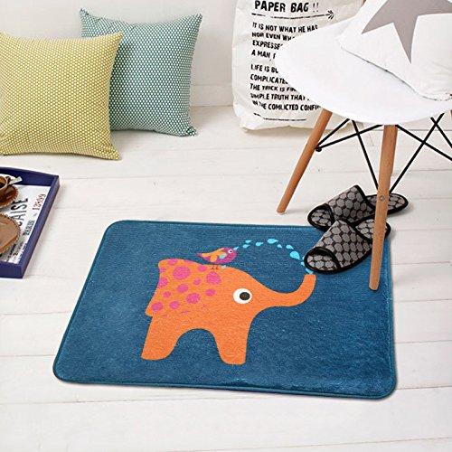 Felpudos Cómics Elefante Felpudo alfombras Felpudos,50*80cm.