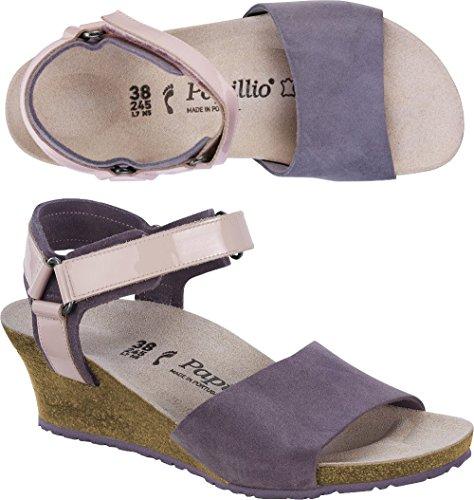 Papillio Damen Eve Leder Knöchelriemchen Violett (Lilac)