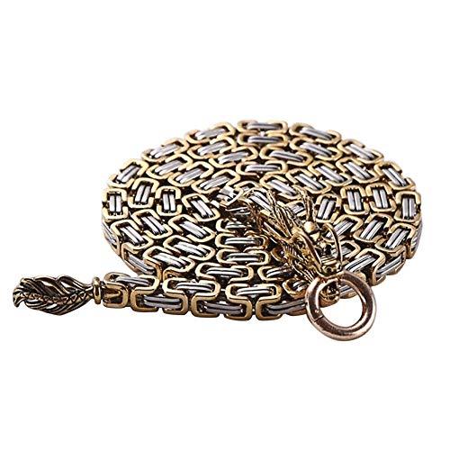 Rocl collana catena per cintura da collo a vita all'aperto in acciaio inossidabile titanio edc titanio - giallo
