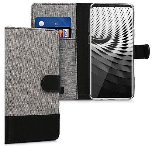 kwmobile Samsung Galaxy S9 Plus Hülle - Kunstleder Wallet Case für Samsung Galaxy S9 Plus mit Kartenfächern und Stand
