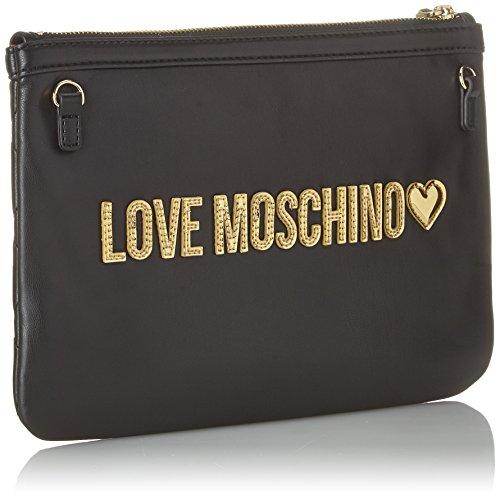 Love Moschino Borsa Quilted Nappa Pu Nero Gal.oro - Borse a spalla Donna c5100ac4243